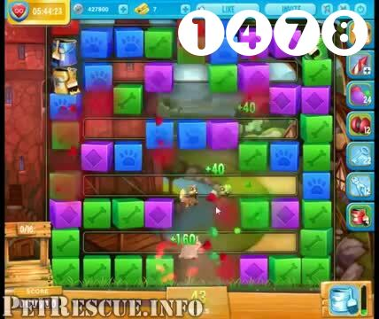 Pet Rescue Saga : Level 1478 – Videos, Cheats, Tips and